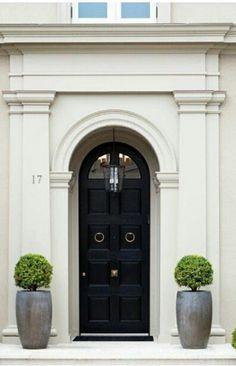 classic simplicity, black door