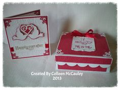 Cricut FANatics crafting is our passion: Wedding Card With Matching Gift Box