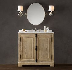 JAMES EXTRA WIDE SINGLE VANITY SINK ANTIQUED COFFEE | HOME: Bathrooms U0026  Powder Rooms | Pinterest | Restoration Hardware, Vanity Sink Au2026