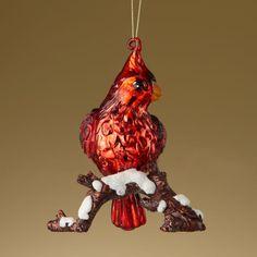 Antique Glass Cardinal Ornament by Lenox