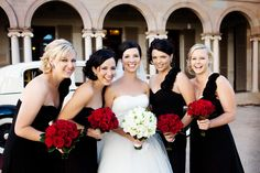 Classic...black, white and red #wedding.