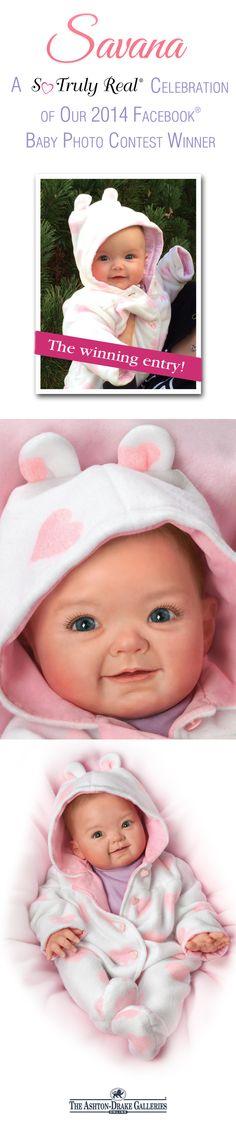 Cutest Baby of 2014 Portrait Savana Baby Doll by The Bradford Exchange Doll