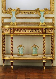 Jean Henri Riesener (French 1734–1806). Side table (commode servante or commode desserte), ca.1790. The Metropolitan Museum of Art, New York.