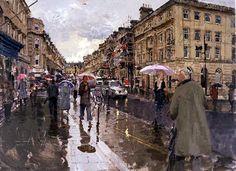 Peter Brown - Summer from the bottom of Milsom Street, Bath - 2007.