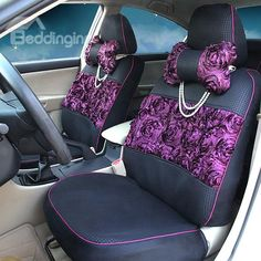 Fashionable Lace Decorated Sandwich Car Seat Cover on sale, Buy Retail Price Seat Covers at Beddinginn.com