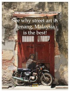 Penang in Malaysia might be the capital of food but what can you do between all those meals? Plenty. Among them is to check out all the street art dotted around this UNESCO World Heritage site. For travel tips & links to maps, check out http://www.rambleandwander.com/2014/07/malaysia-georgetown-penang-street-art-tips-maps.html