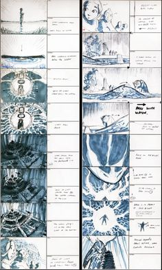 Avatar the last airbender: Storyboards from season 1 finale.