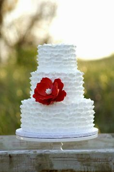 Tartas de boda - Wedding Cake - Coral and Turquoise Wedding Decor