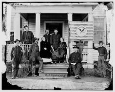Civil War Trust Judson Kilpatrick, two ladies, and his staff in 1864.