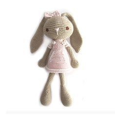 This post is also available in: EspañolToday we have a tutorial full of colored wool and needles to make a Long Eared Bunny using the amigurumi technique, which will delight the little ones! This crochet Long Eared Bunny is about 30 cm. tall if you use the same yarn and hook. The pattern can also work well...Seguir leyendo... »