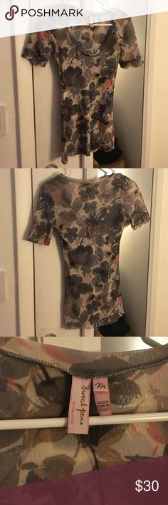 Sweet pea flowered top Sweet pea double layer scoop neck top. Fits like a glove and great colors Sweet Pea Tops Blouses