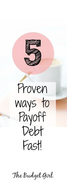 5 proven ways to payoff debt fast, payoff debt tips, payoff debt quickly, dave ramsey debt snowball