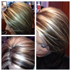 Gave my client some fun bold highlights lowlights!