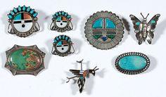 zuni sun face pin | ... and zuni pins lot of 8 includes a delicate zuni roadrunner length 1