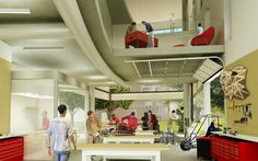 Fab Lab - University of Rochester New Media Arts & Innovation Center by Ziger/Snead Architects Innovation Lab, Innovation Centre, University Of Rochester, New Media Art, Labs, Architects, Competition, Projects, Technology