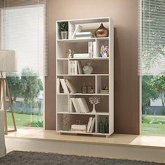 Manhattan Comfort Maringa Bookcase in White
