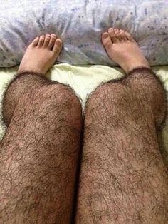 The Anti-Pervert Stocking for ladies. This hairy stocking will make any wearer's leg look like she hasn't shaved. Like ever.