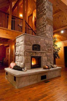 Soapstone Heater — Maine Wood Heat Co. Soapstone Heater — Maine Wood Heat Co. Home Fireplace, Fireplace Design, Fireplaces, Fireplace Stone, Fireplace Ideas, Fireplace Outdoor, Fireplace Heater, Log Cabin Homes, Log Cabins