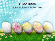 Easter Eggs Basket To Gift Powerpoint Templates Ppt Themes And