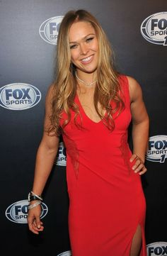 Mixed martial arts champion Ronda Rousey is one of the most famous UFC fighters (men or women) in the world.