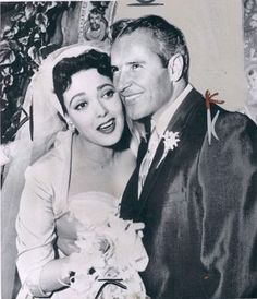Linda Darnell with third husband Merle Robertson.....Darnell was married to pilot Merle Roy Robertson from 1957 to 1963. In 1963, Darnell was granted a divorce from Robertson following an outburst in the courtroom, where she accused her third husband of fathering the baby of a Polish actress.  She was promised a monthly alimony of $350 until July 15, 1964, and $250 until September 15, 1967.