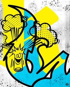 KaBoom- exclusive fabric wall decal (Poster that Sticks) by Sket-One. $39