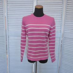 Vintage Hot Pink Cotton Sweater Womens Medium by GroovyGirlGarb, $28.00