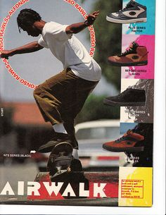 Vintage Airwalk Skate Shoe AD by OnTheReal, via Flickr