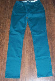 NWT CHRISTOPHER BLUE JUKU HIGH-RISE SKINNY TEAL PANTS, SZ 4. EXCELLENT! #ChristopherBlue #CasualPants