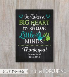 Teacher Gift End of School Year Teacher by TheFinePorcupine