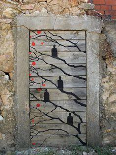 Street art by Pablo S. Herrero & Alfredo Omaña