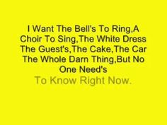 Shania Twain- No One Need's To Know (Lyrics) - YouTube Awwww! roomie memories she found this song for me!!!