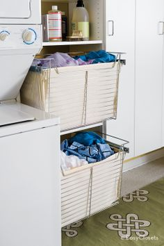 Tip of the Day: Save time on laundry day by presorting clothes in the laundry room. Keep multiple hampers in the laundry room for lights, darks, whites, delicates, etc. When the hamper gets full, just tip it straight into the washing machine -no sorting!