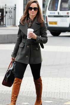 Pippa Middleton She and I share a love for classic style, not to mention animal print accessories!