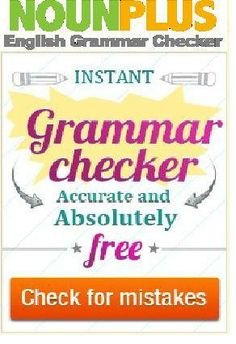 English grammar is quite confusing for beginners but with proper practice and implementation, it could really get easier like one's mother tongue. So check your grammar mistakes easily through an online grammar checker.              #English #Grammarchecker