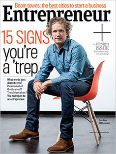 Entrepreneur's Design issue, featuring the Best Cities for businesses, signs you're a 'trep, Fuseproject and much more. August 2014