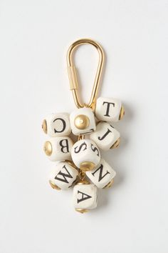 Letter Jumble Keychain - Anthropologie.com