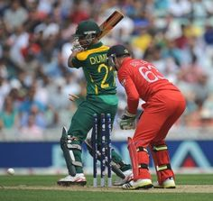 ICC Champions Trophy 2013 | SA vs England. JP Duminy was bowled for 3. | Photo: Getty Images Champions Trophy, Cricket, South Africa, England, Game, Cricket Sport, Gaming, Toy, English