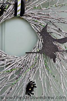 witch glam halloween wreath