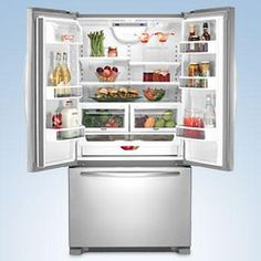 The KitchenAid Architect Series II Monochromatic Stainless Steel French Door  Bottom Freezer Refrigerator Is The Perfect Solution For All Your Kitchen  Needs.