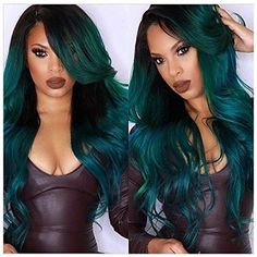 25 Balayage Hair Color Ideas for Black Hair in 2019 Balayage is a French word signifying 'to clear' or 'to paint'. It takes into account a sun-kissed characteristic looking hair shading like what natur. Balage - May 25 2019 at Ombre Hair Color, Hair Color Balayage, Hair Color For Black Hair, Blue Hair, Black Wig, Dark Teal Hair, Dark Blonde, Haircolor, Curly Wigs