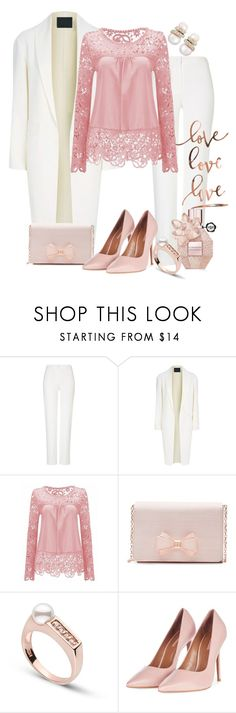 """""""Lace elegant"""" by taming-kate ❤ liked on Polyvore featuring ESCADA, Alexander Wang, Ted Baker, Topshop and Belpearl"""