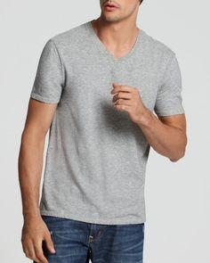 Vince Short Sleeve Jersey V-Neck Tee