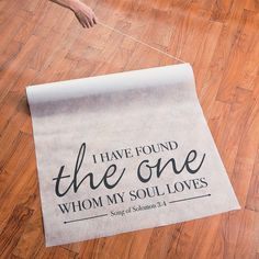 Song of Solomon Aisle Runner