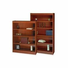 Safco 1505CY Bookcase 6 Shlf Wood Veneer by Safco. $359.27. Square-edge bookcase features full 3/4 thick shelves and sides that provide strength and stability. Made from wood veneers. One-piece matching veneer back panel adds to professional look. All shelves are 11-3/4 deep and all except the bottom shelf adjust in 1-1/4 increments. Standard shelves hold up to 100 lb. Shelf count includes the bottom of bookcase. Quick-lock fasteners make assembly quick and easy.. Save 59%!