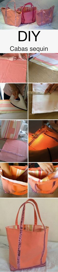 Diy cabas sequin sac à partir de tissu ruban à sequins avec machine à coudre o it yourself déco facile original par le blog décoration intérieure clem around the corner #diy #doityourself #deco #decoration #sac #bag #cabassequin #machineàcoudre #tissu #rubansequin Clem, Vanessa Bruno, Couture, Corner, Diy, Decoration, Tuto Sac, Fabric Purses, Purse
