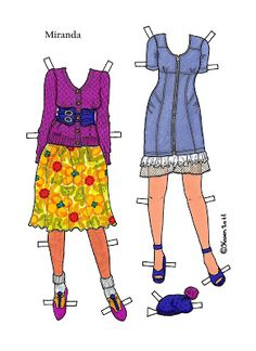 Karen`s Paper Dolls: Miranda Paper Doll to print in Colours. Miranda…