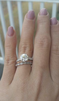 Anyone else have lots of E/wedding rings to change up your look? - Weddingbee