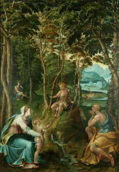 The Holy Family with the Infant Baptist Manchester Art, Holy Family, Art Uk, Religious Art, Holi, Infant, Art Gallery, Christian, Painting