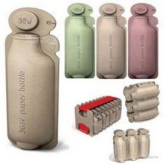 30 emballages créatifs et insolites qui rendraient nos courses bien plus rigolotes - Bouteilles en papier recyclé